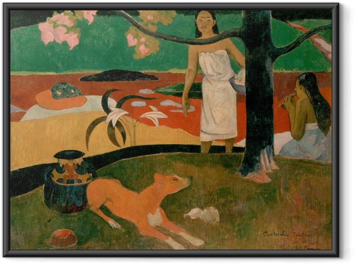 Obrazek w ramie Paul Gauguin - Tahitańskie pasterki - Reprodukcje