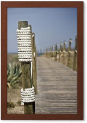Nya Poster Board-walk rep staket på stranden • Pixers® - Vi lever för MN-41