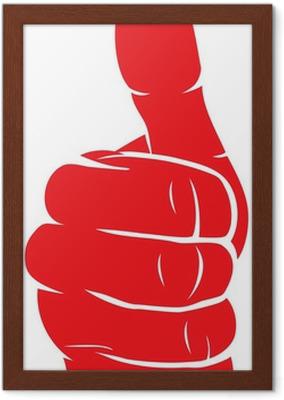 Canvastavla Vector hand visar tummen upp • Pixers® - Vi lever för förändring 24da0823798e1