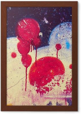 1e266772 Lerretsbilde Grunge fargestruktur, blå og brun farge, gammel sprukket  overflate • Pixers® - Vi lever for forandring