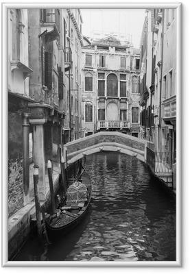 Ingelijste Afbeelding Venetië in zwart en wit
