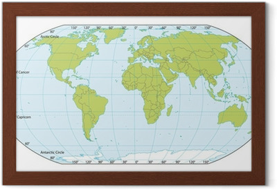 World Map With Coordinates on