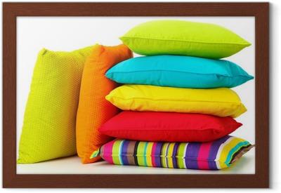 Kussen Wit 15 : Canvas kleurrijke kussens op wit wordt geïsoleerd u pixers we
