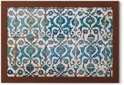 Quadro su tela piastrelle decorate stile arabo u pixers