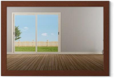 Merveilleux Poster Fenêtre Coulissante Fermée Dans Une Chambre Vide U2022 Pixers®   Nous  Vivons Pour Changer