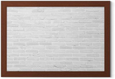 Image encadrée Blanc grunge mur de briques texture de fond