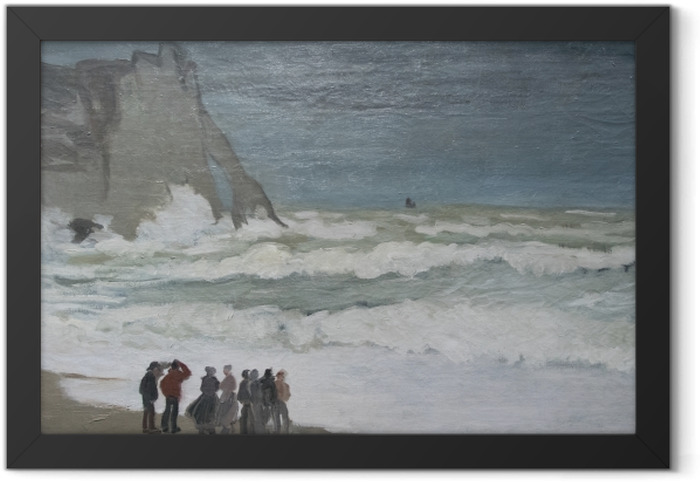 Claude Monet - Rough Sea at Etretat Framed Picture - Reproductions