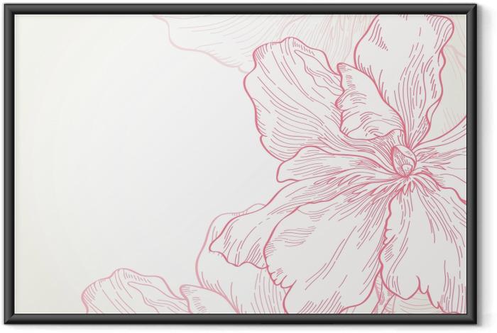 Obrazek w ramie różowe kwiaty -