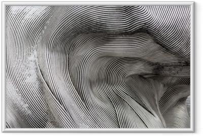 Rámovaný obraz Pozadí textury lesklé kovové plochy. zakřivená deska je vyrobena ze železa.