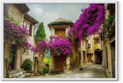 Çerçeveli Baskı Provence sanat güzel eski şehir