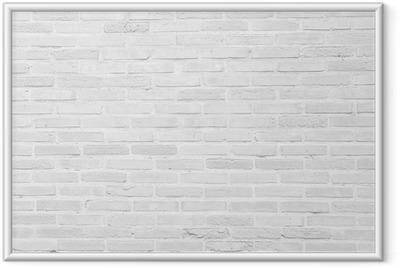 Ingelijste Afbeelding White grunge bakstenen muur textuur achtergrond