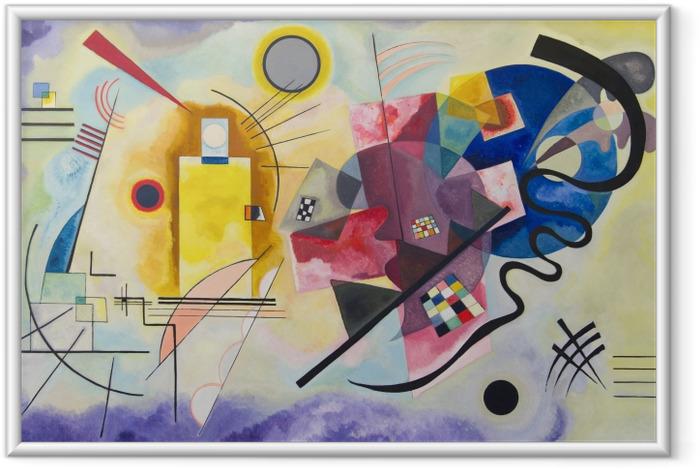 Ingelijste Afbeelding Wassily Kandinsky - Geel-rood-blauw - Reproducties
