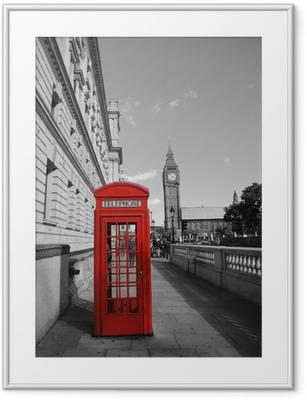 Image encadrée Big Ben et cabine téléphonique rouge