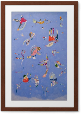 Image encadrée Vassily Kandinsky - Bleu de ciel
