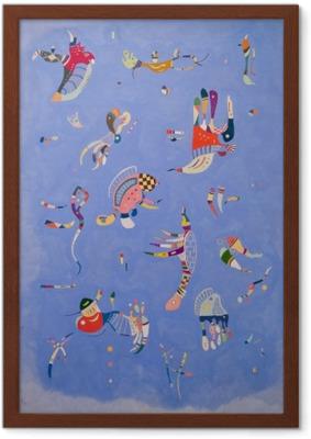 Vasilij Kandinskij - Himmelblå Indrammet billede