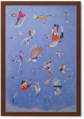 Lámina Enmarcada Vasili Kandinski - Cielo azul