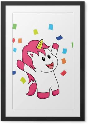 Immagine in Cornice L'unicorno celebra la felicità