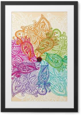 Obrazek w ramie Mandala symboli