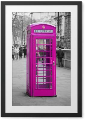 Ingelijste Afbeelding Telefooncel in Londen