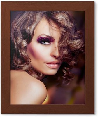 bf2533b447f Fotobehang Mode Beauty Girl. Fashion Vogue stijl portret • Pixers® - We  leven om te veranderen