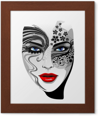 0d764d46f Trucco Mani e Occhi-Eyes and Nails Art Make Up-Vector Wall Mural • Pixers®  • We live to change