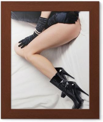 Donna gambe in stivali tacco alto a spillo fetish