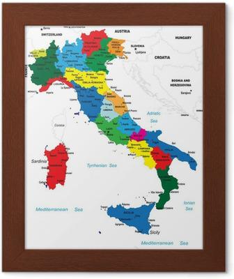Cartina Politica Dell Italia.La Mappa Politica D Italia
