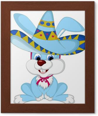 Quadro su Tela Cartone animato divertente del coniglio in posa con cappello  da cowboy • Pixers® - Viviamo per il cambiamento 32947d761532