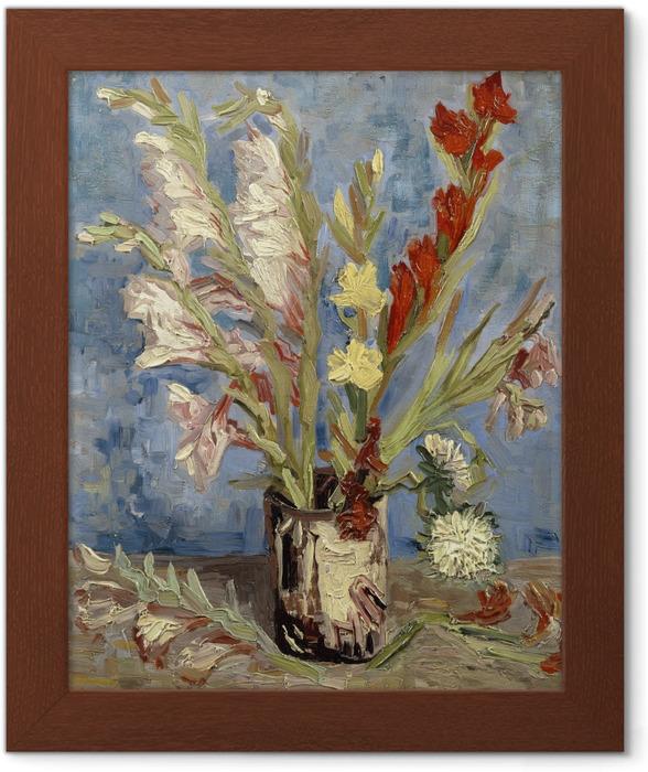 Poster en cadre Vincent van Gogh - Vase avec Glaïeuls - Reproductions