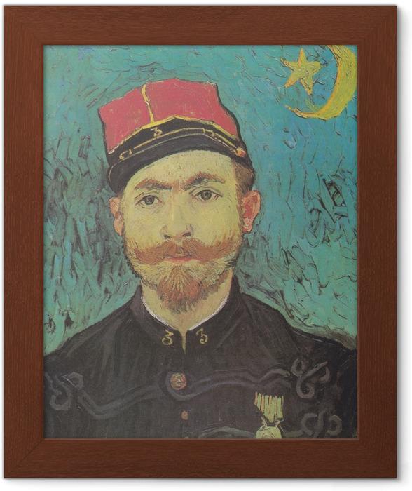Poster en cadre Vincent van Gogh - Portrait de Paul-Eugène Milliet - Reproductions