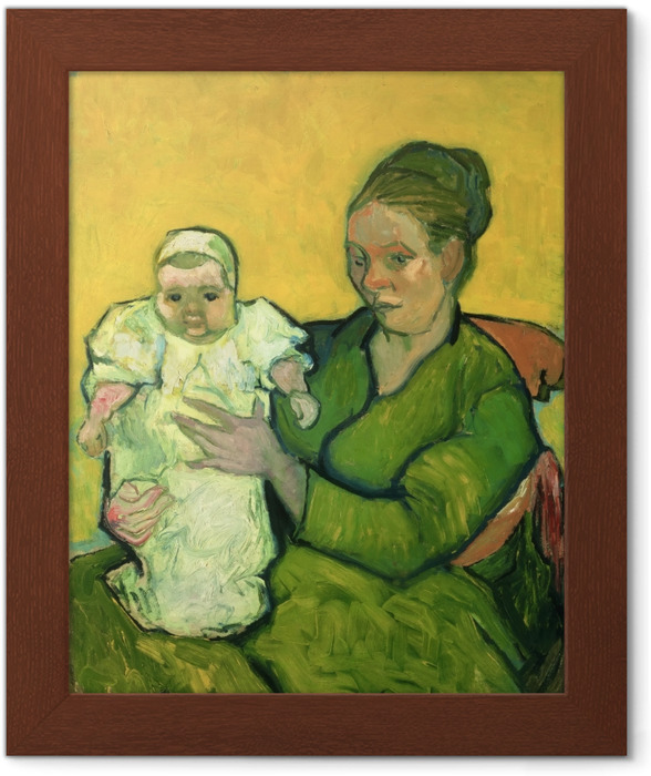 Póster Enmarcado Vincent van Gogh - Señora Roulin con su hijo Marcelle - Reproductions