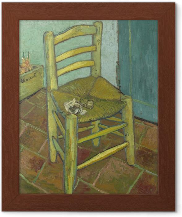 Plakat w ramie Vincent van Gogh - Krzesło Van Gogha - Reproductions