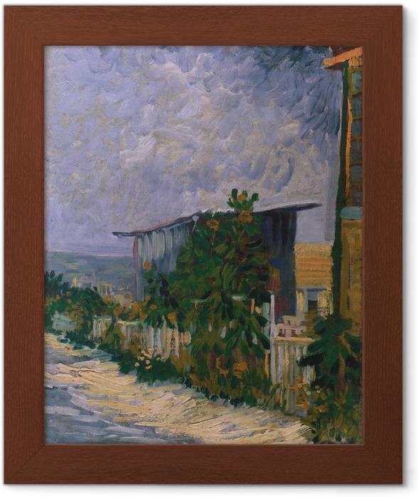 Plakát v rámu Vincent van Gogh - Přístřešek na Montmartre - Reproductions