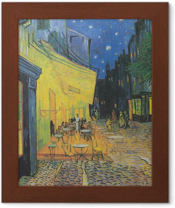 Plakat w ramie Vincent van Gogh - Taras kawiarni w nocy - Reproductions