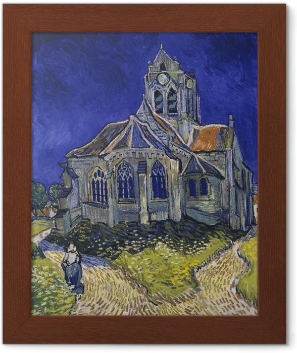 Plakat w ramie Vincent van Gogh - Kościół w Auvers - Reproductions
