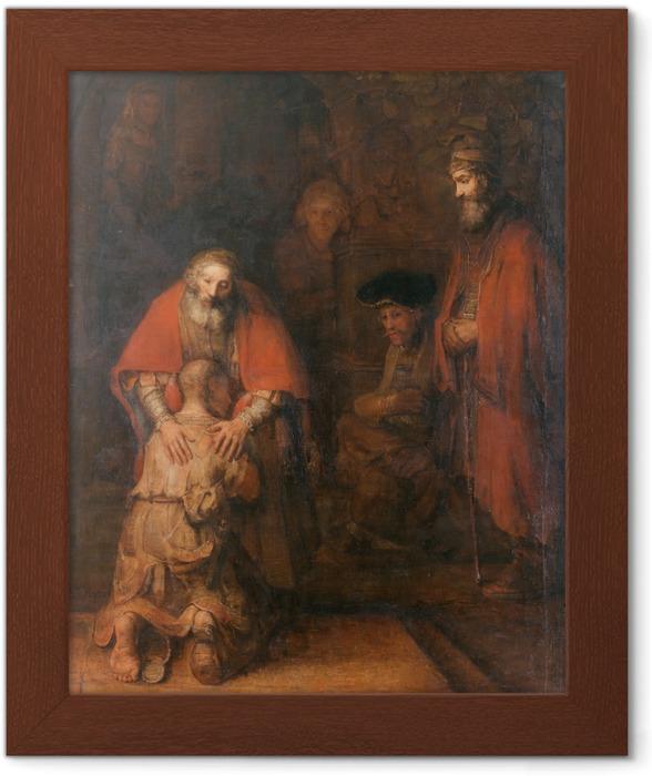Ingelijste Poster Rembrandt van Rijn - De terugkeer van de verloren zoon - Reproducties