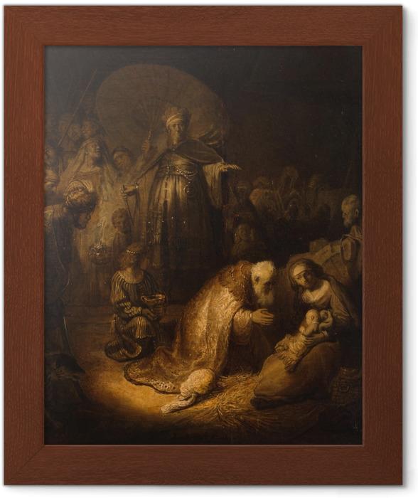 Rembrandt - Kuninkaiden kumarrus Kehystetty juliste -