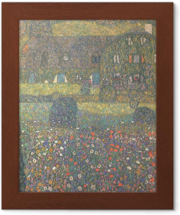 Plakat w ramie Gustav Klimt - Chatka nad jeziorem Attersee - Reprodukcje