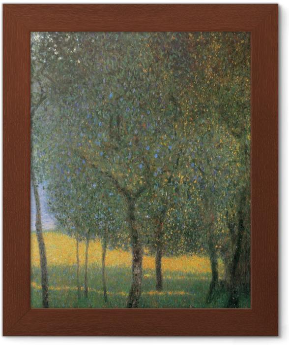 Plakát v rámu Gustav Klimt - Ovocné stromy v Attersee - Reprodukce