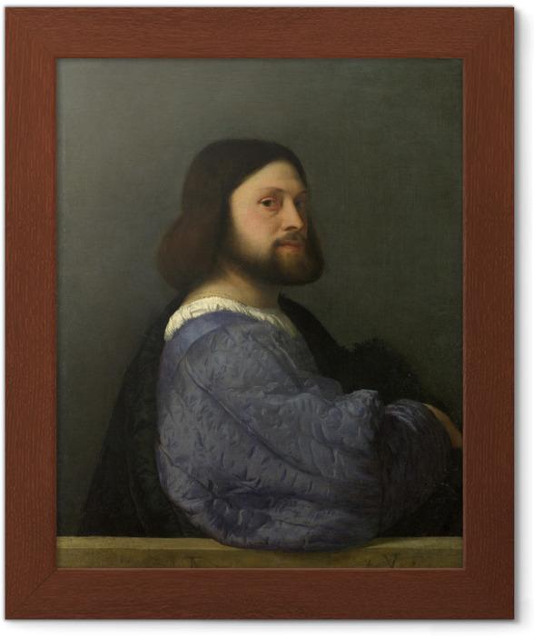Póster Enmarcado Tiziano - Retrato de un hombre - Reproducciones