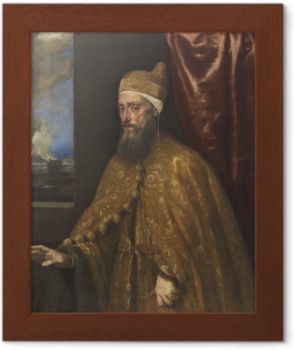 Ingelijste Poster Titiaan - Portret van doge Francesco Venier - Reproducties