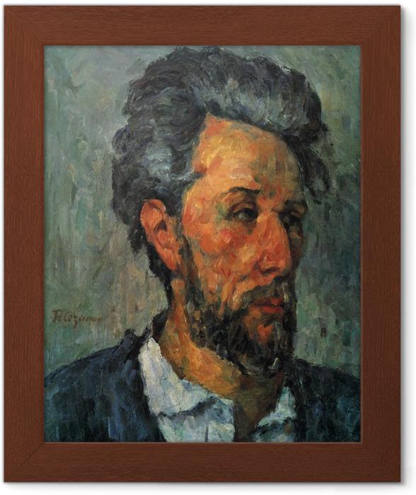 Ingelijste Poster Paul Cézanne - Portret van Victor Chocquet - Reproducties