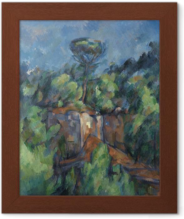Çerçeveli Poster Paul Cézanne - Bibémus Ocağı - Benzetiler