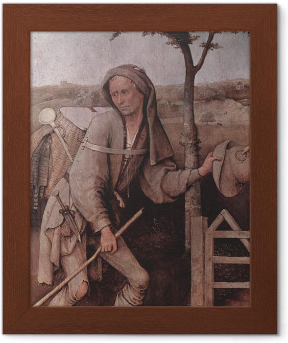 Póster Enmarcado El Bosco - El vagabundo - Reproductions