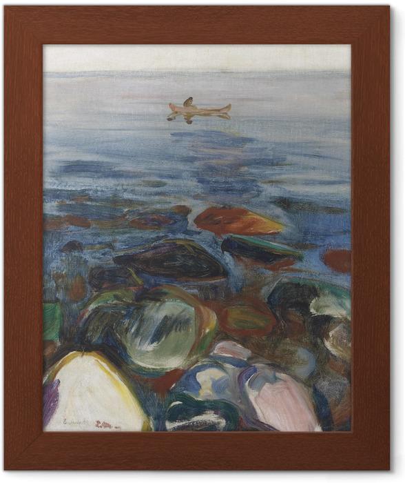 Plakat w ramie Edvard Munch - Łódź na morzu - Reprodukcje