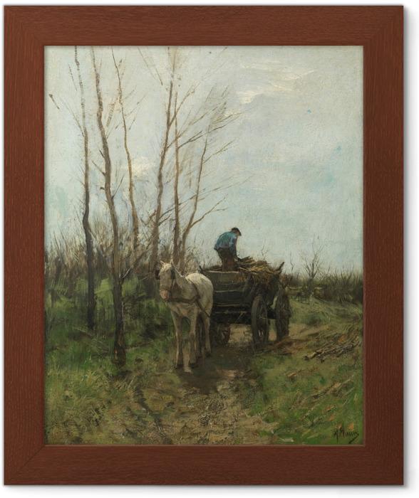 Plakat w ramie Anton Mauve - Zbieranie drewna - Reproductions