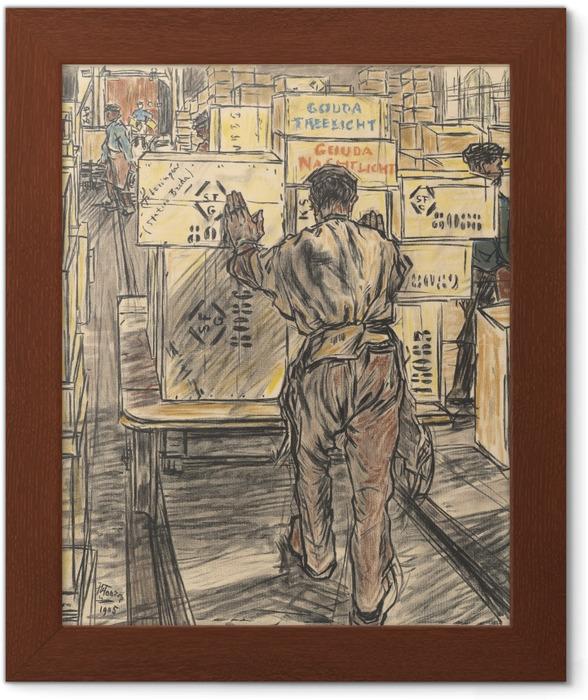 Póster Enmarcado Jan Toorop - Almacén - Fábrica de velas en Gouda, 4 - Reproductions