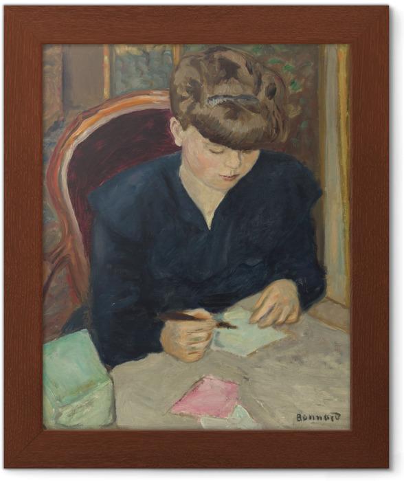 Póster Enmarcado Pierre Bonnard - La carta - Reproductions