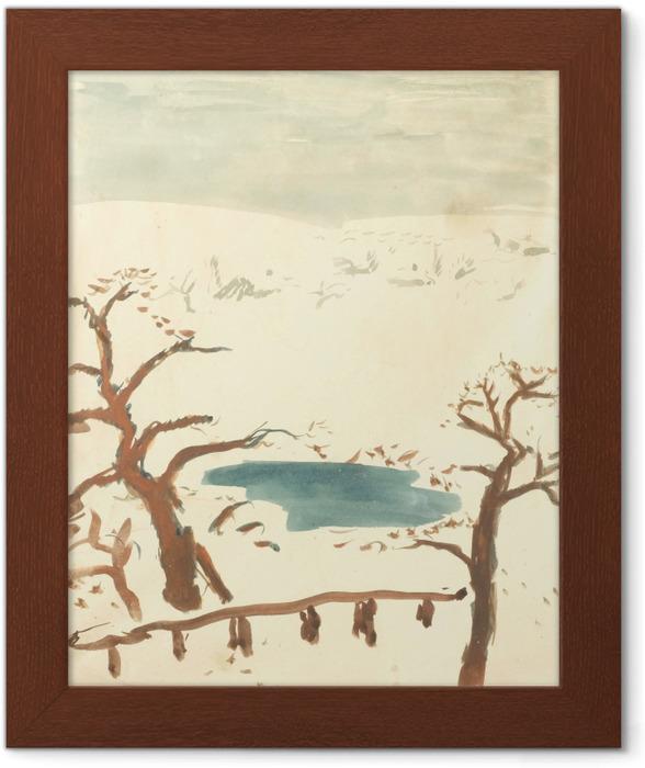 Poster en cadre Pierre Bonnard - Paysage d'hiver - Reproductions