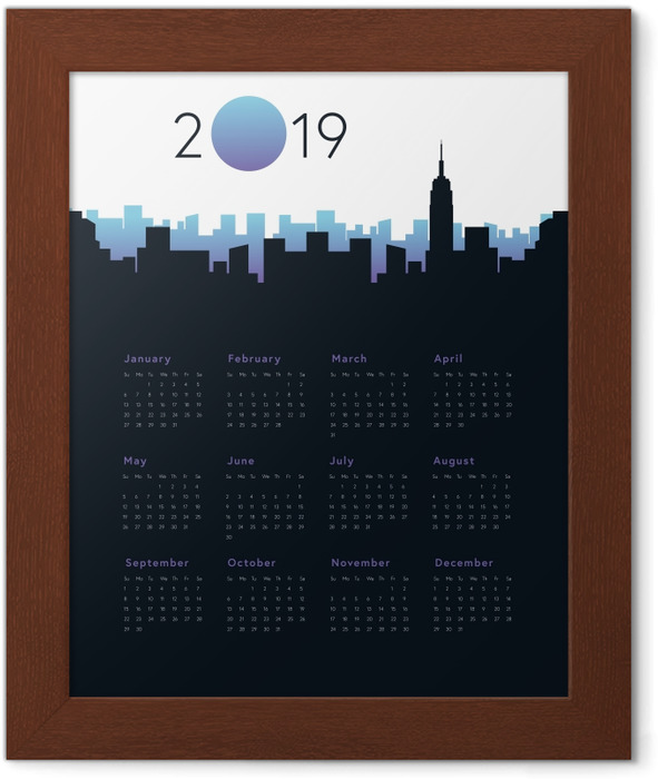 Calendar 2019 - City Framed Poster - Calendars 2019